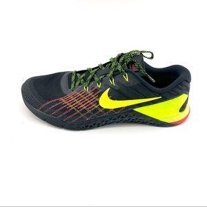 Nike Metcon 3 Sneakers 10 Mens Black Shoes Train